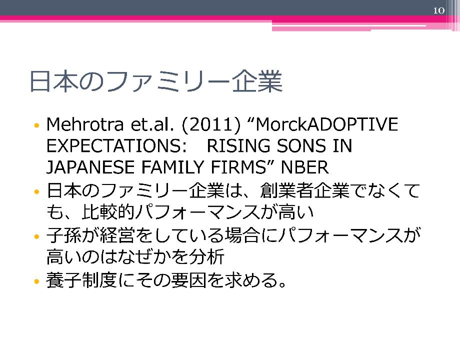 日本の「ファミリービジネス」は世界的に見ても優秀?
